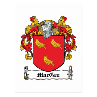 MacGee Family Crest Postcard