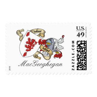 MacGeoghegan Family Crest Postage Stamp