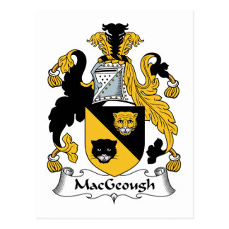 MacGeough Family Crest Postcard