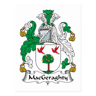 MacGeraghty Family Crest Postcard