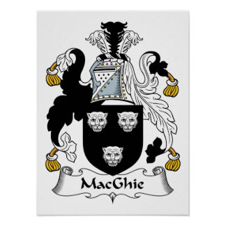 MacGhie Family Crest Print