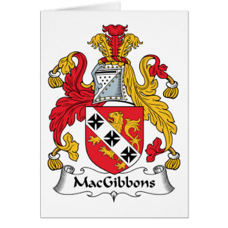 MacGibbons Family Crest Card