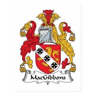 MacGibbons Family Crest Postcard
