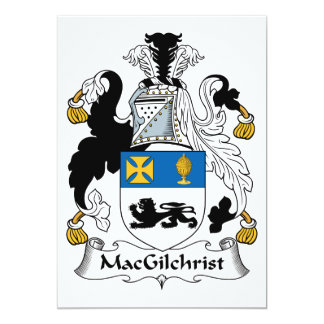 MacGilchrist Family Crest Card