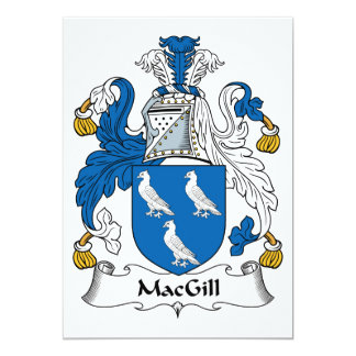 MacGill Family Crest Card
