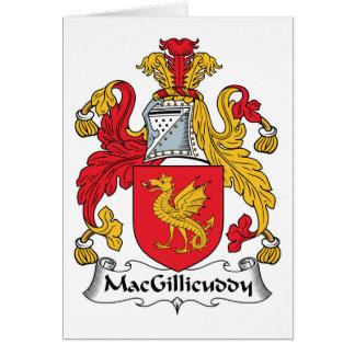 MacGillicuddy Family Crest Card