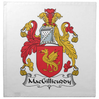 MacGillicuddy Family Crest Napkin