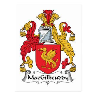 MacGillicuddy Family Crest Postcard