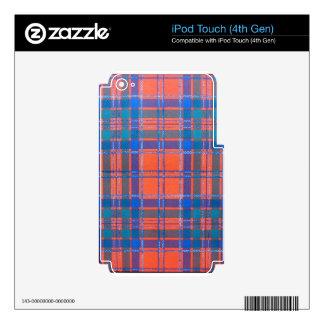 MACGILLIVRAY SCOTTISH FAMILY TARTAN SKINS FOR iPod TOUCH 4G