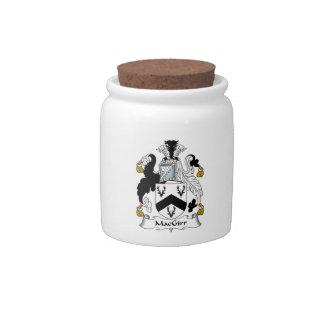 MacGirr Family Crest Candy Jar