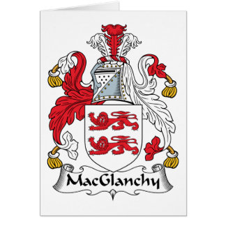 MacGlanchy Family Crest Card