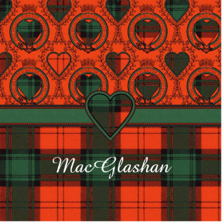 MacGlashan clan Plaid Scottish kilt tartan Statuette