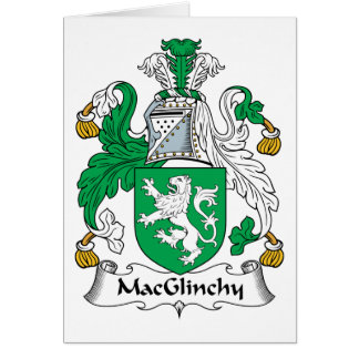 MacGlinchy Family Crest Card