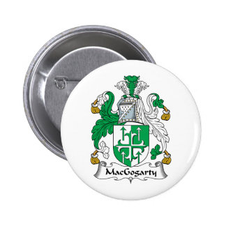 MacGogarty Family Crest 2 Inch Round Button