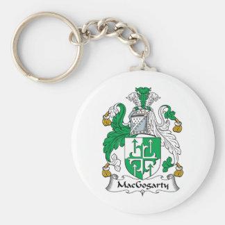 MacGogarty Family Crest Basic Round Button Keychain