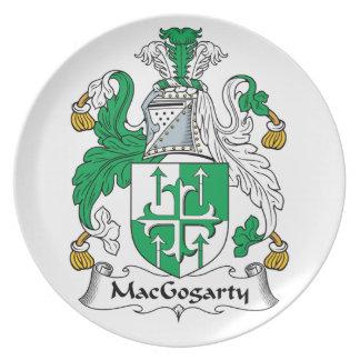 MacGogarty Family Crest Dinner Plate