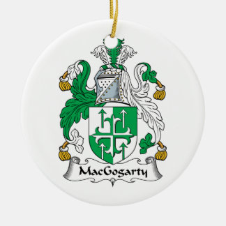 MacGogarty Family Crest Double-Sided Ceramic Round Christmas Ornament