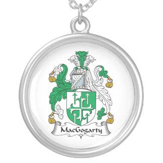 MacGogarty Family Crest Round Pendant Necklace