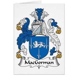 MacGorman Family Crest Card