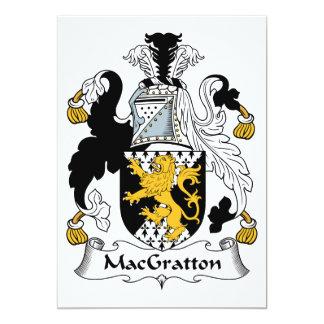 MacGratton Family Crest Card
