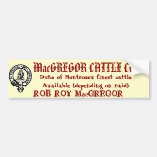 MacGREGOR CATTLE CO. Car Bumper Sticker