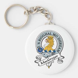 MacGregor Clan Badge Basic Round Button Keychain