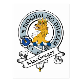 MacGregor Clan Badge Postcard