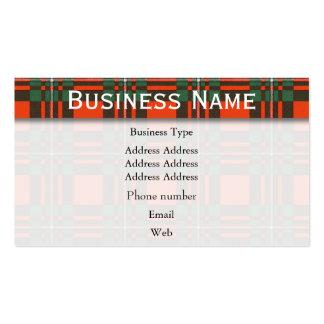 Macgregor clan Plaid Scottish tartan Business Cards