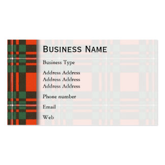 Macgregor clan Plaid Scottish tartan Double-Sided Standard Business Cards (Pack Of 100)