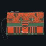 """Macgregor clan Plaid Scottish tartan Wristlet<br><div class=""""desc"""">A lovely design based on the real Scottish tartan</div>"""
