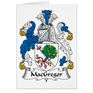 MacGregor Family Crest Card