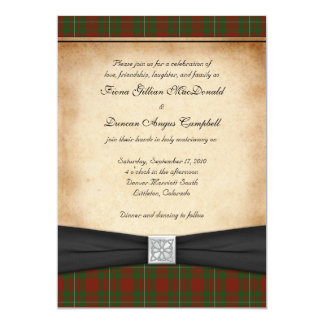 MacGregor of Cardney Tartan Wedding Invitation