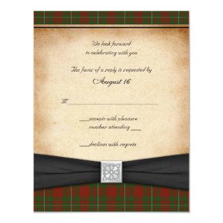 MacGregor of Cardney Wedding Reply Card