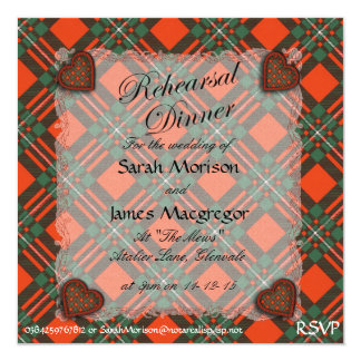 Macgregor Scottish clan tartan - Plaid Card