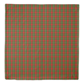 MacGregor Scottish Plaid Printed Tartan Duvet Cover
