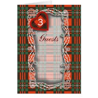 MacGregor Scottish Tartan Card