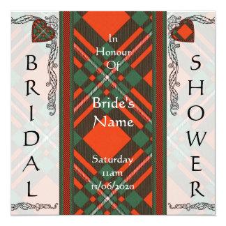 MacGregor Scottish Tartan 5.25x5.25 Square Paper Invitation Card