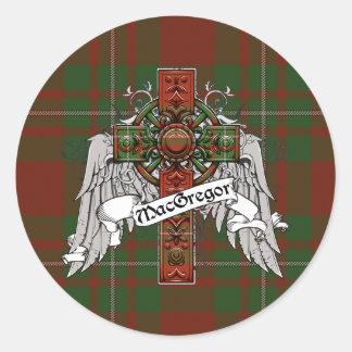 MacGregor Tartan Cross Classic Round Sticker
