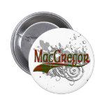 MacGregor Tartan Grunge Button