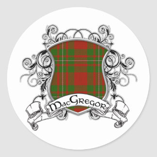 MacGregor Tartan Shield Classic Round Sticker