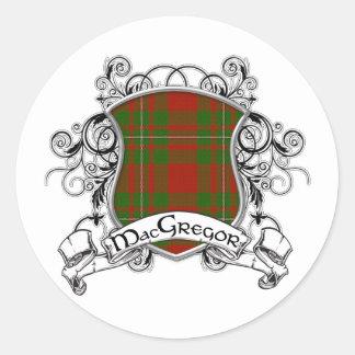 MacGregor Tartan Shield Classic Round Sticker