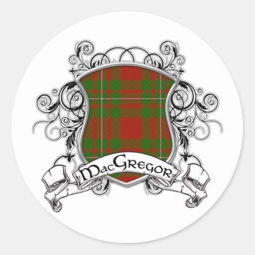 MacGregor Tartan Shield Sticker