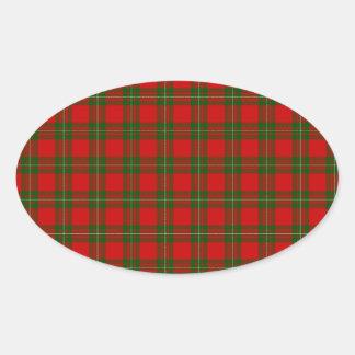 MacGregor Tartan Oval Sticker