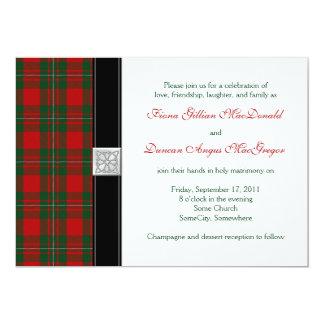 MacGregor Tartan Wedding Invitation