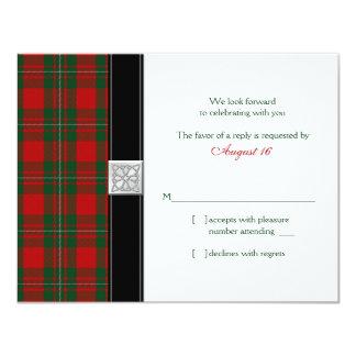MacGregor Tartan Wedding Reply Card