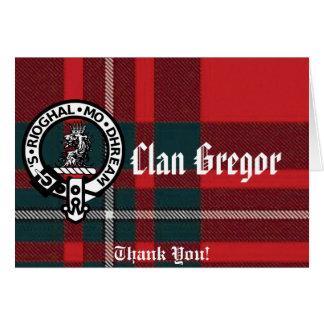 MacGregorRed1, Gregor Badge, Clan Gregor, Thank... Card