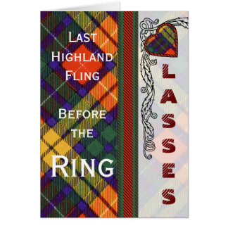 MacGrensich clan Plaid Scottish kilt tartan Card