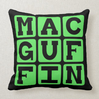 MacGuffin, Literary Fakeout Throw Pillows