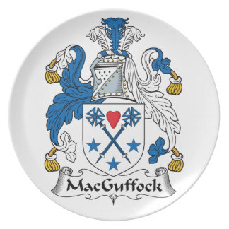 MacGuffock Family Crest Party Plate