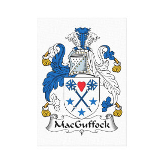MacGuffock Family Crest Stretched Canvas Print